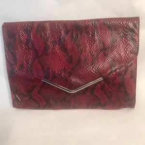 Mossimo Faux Snakeskin Envelope Clutch